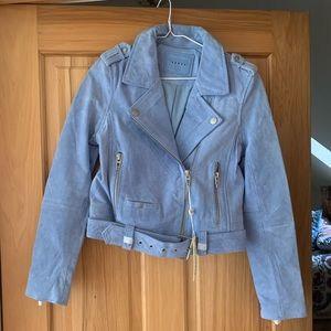 Blue Blank NYC suede jacket never worn!!